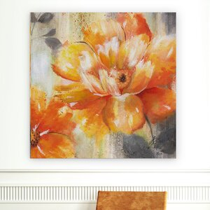 'Orange Crush II' Oil Painting Print on Wrapped Canvas by Alcott Hill