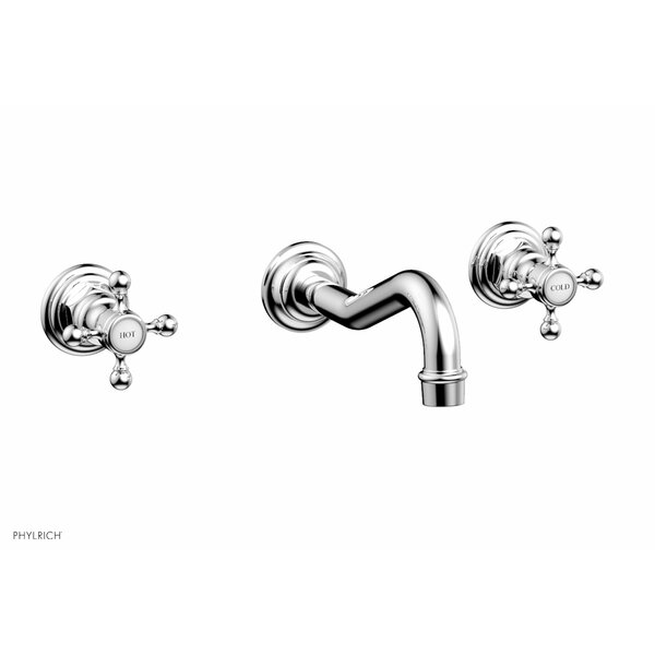 Henri Wall Mounted Bathroom Faucet With Drain Assembly By Phylrich