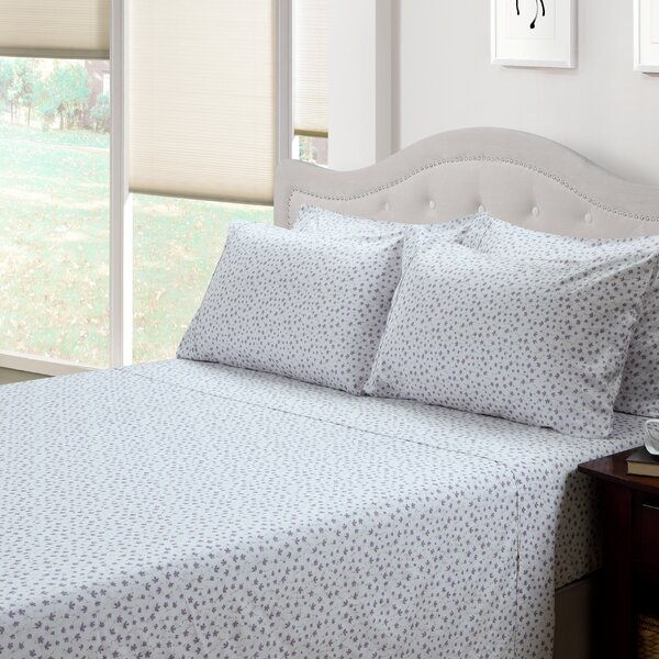 Ditsy Floral Lily 300 Thread Count Cotton 3 Piece Sheet Set by 214 West
