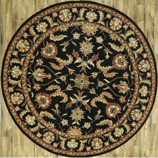 Bovill Agra Oriental Hand-Tufted Wool Black Area Rug ByCanora Grey