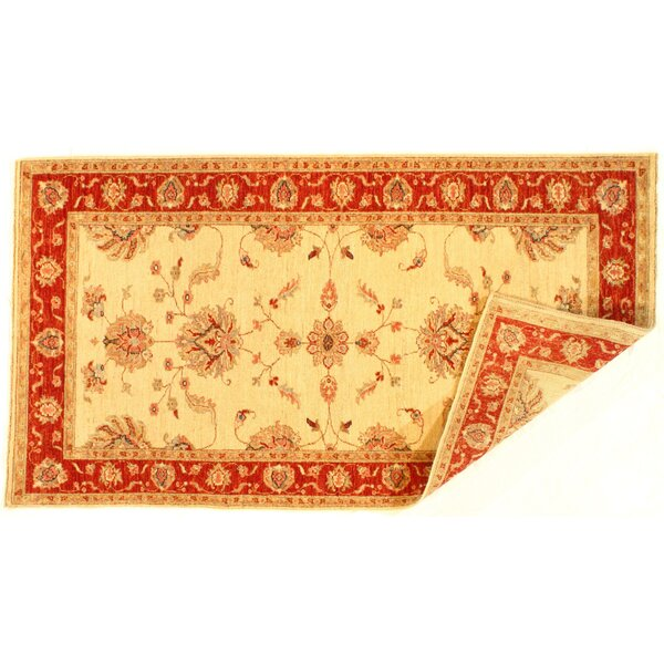 Colella Hand-Knotted Wool Ivory Area Rug