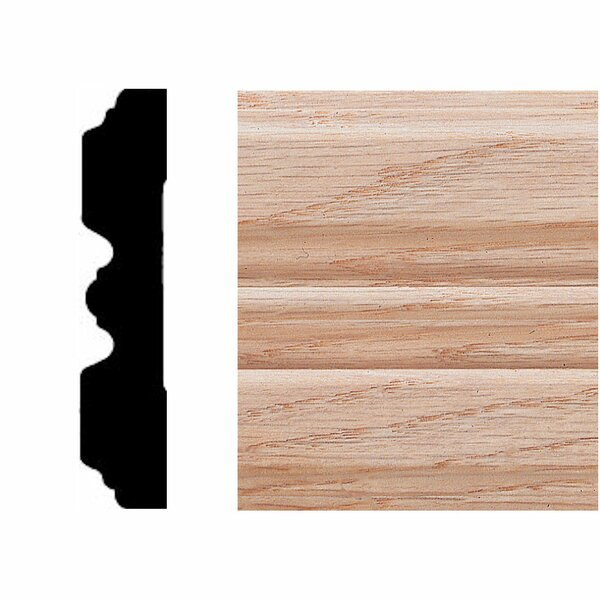 3/4 in. x 3-1/4 in. x 7 ft. Oak Fluted Casing Moulding by Manor House