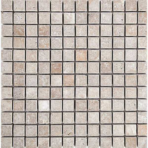 Tumbled 1 x 1 Stone Mosaic Tile in Noce by Parvatile
