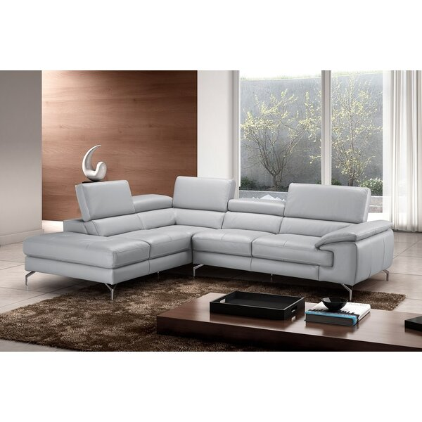 Olivia Leather Sectional by J&M Furniture