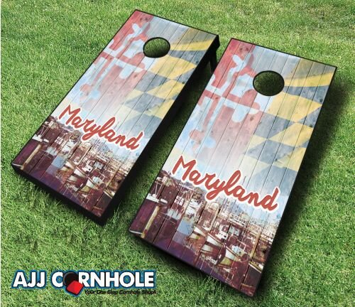 Maryland Cornhole Set by AJJ Cornhole