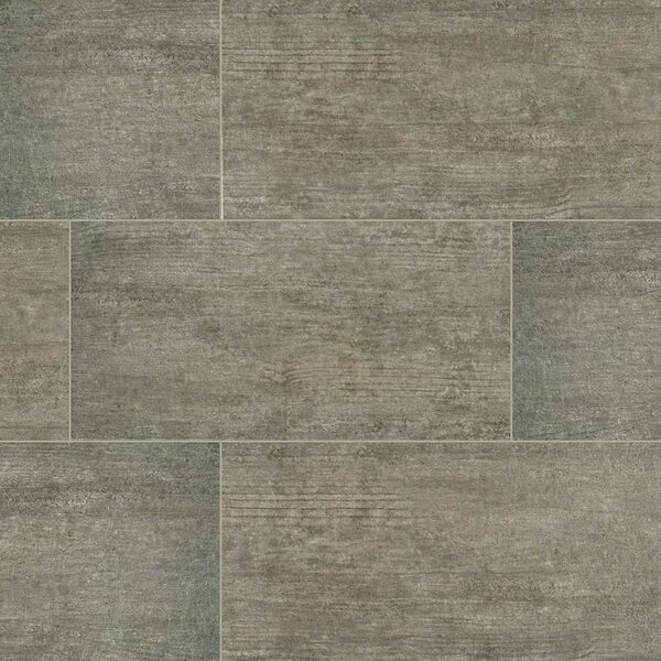 Metropolis 12 x 24 Porcelain Wood Look/Field Tile in Gray by MSI