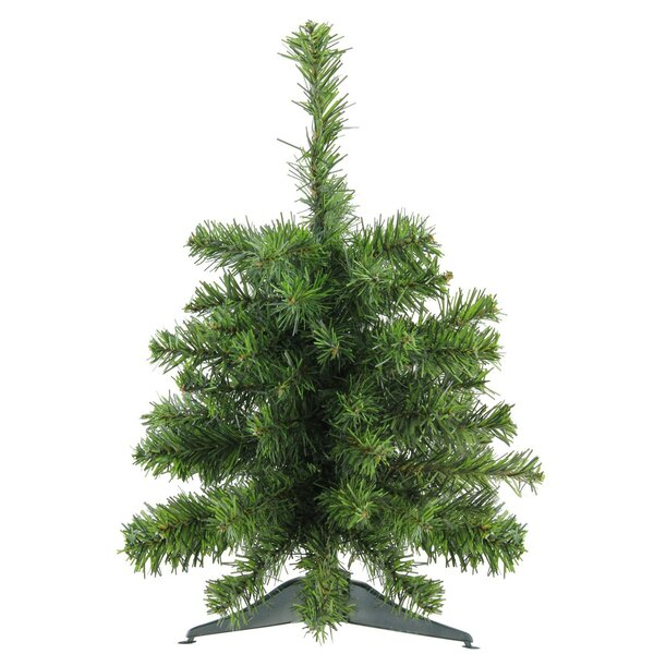 2-Tone 18 Green Pine Tree Artificial Christmas Tree with Stand (Set of 2) by The Holiday Aisle
