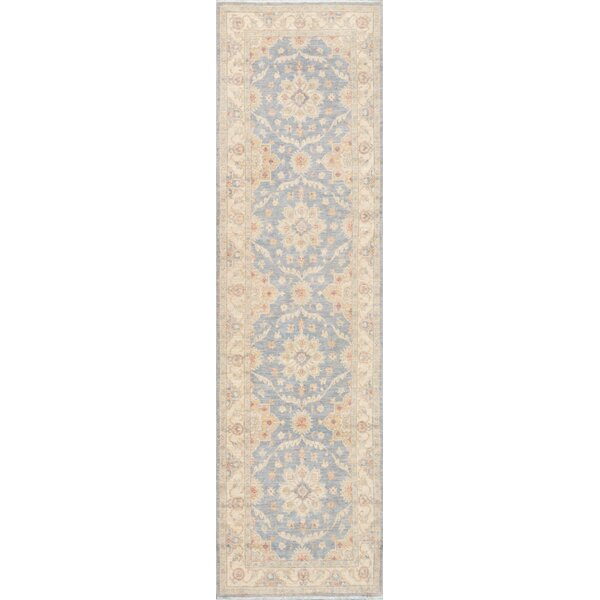 Tabriz Hand-Knotted Light Blue / Tan Area Rug by Pasargad