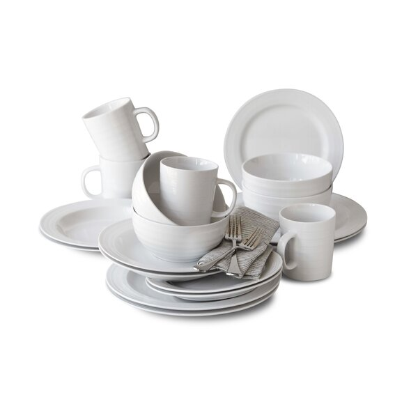 Penelope 16 Piece Dinnerware Set, Service for 4 by Charlton Home