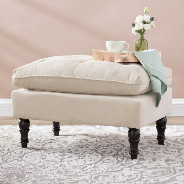 Brianna Contemporary Tufted Ottoman By Three Posts