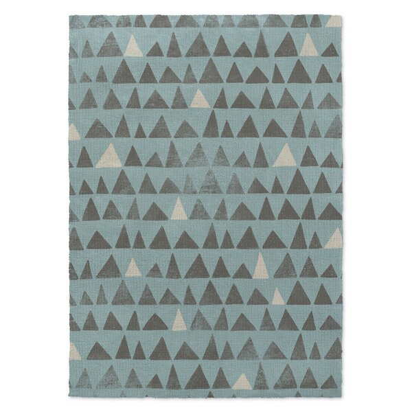 Peaks Blue Area Rug by KAVKA DESIGNS