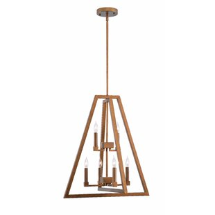 Great Price Arriaga 6-Light Geometric Chandelier ByWrought Studio