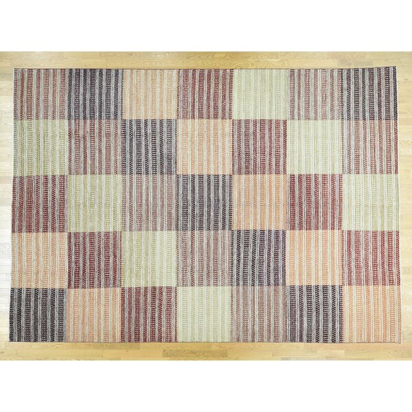 One-of-a-Kind Becker Block Design Handwoven Wool Area Rug by Isabelline