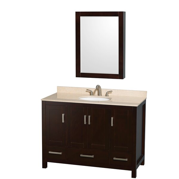 Sheffield 48 Single Espresso Bathroom Vanity Set with Medicine Cabinet by Wyndham Collection