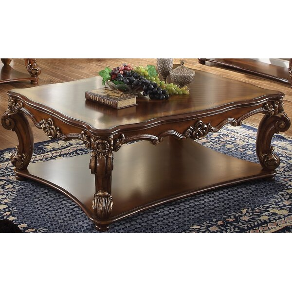 Esmeralda Solid Wood Coffee Table With Storage By Astoria Grand