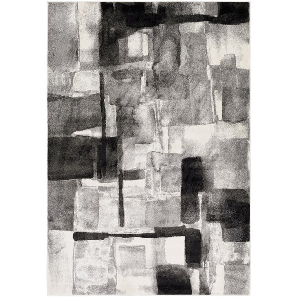 Devaney Black/Gray Area Rug by Ebern Designs