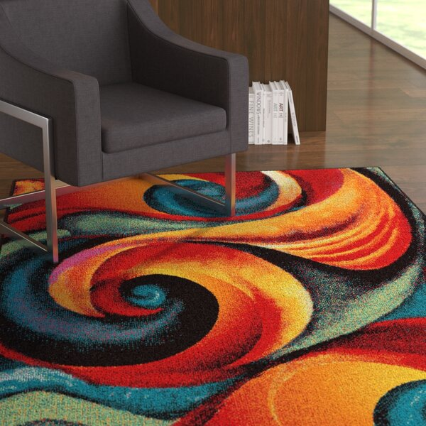Weisman Red/Blue Area Rug by Latitude Run