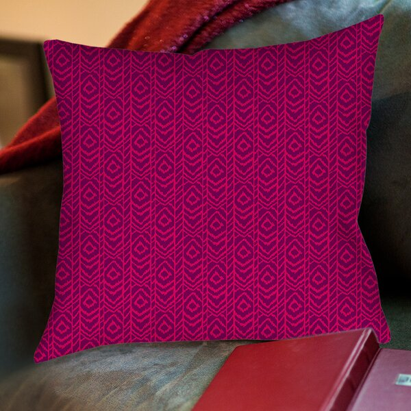 Sketched Ikat Printed Throw Pillow by Manual Woodworkers & Weavers