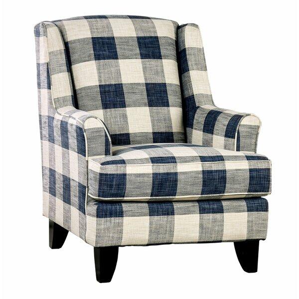 Flores Fabric Wooden Armchair by Rosalind Wheeler Rosalind Wheeler