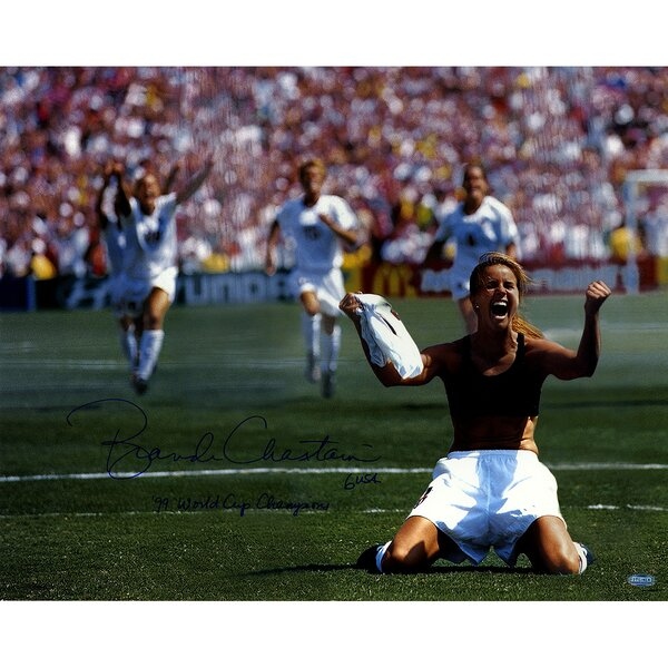 Brandi Chastain Signed PK Celebration Photographic Print by Steiner Sports