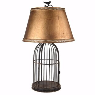 Bird cage lamp wayfair kimberling vintage style birdcage 30 table lamp aloadofball Image collections