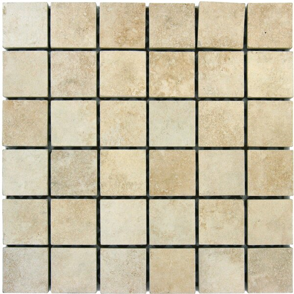 Travertine 2 x 2 Porcelain Mosaic Tile in Beige by MSI