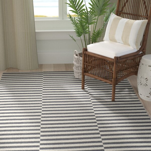 Orwell Hand-Woven Cotton Ivory/Gray Area Rug by Breakwater Bay