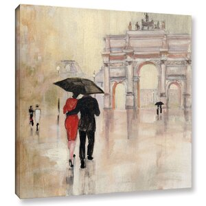 Romanitc Paris II Painting Print on Wrapped Canvas by Red Barrel Studio