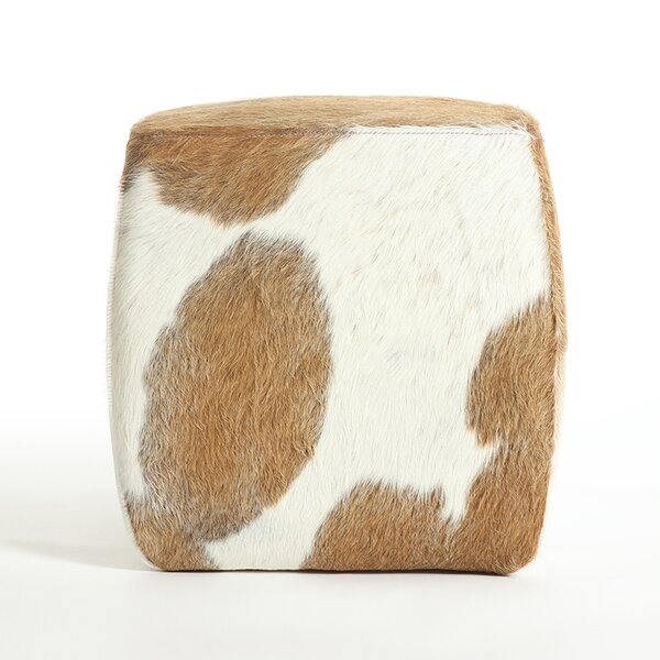 Cobb Leather Pouf by Foundry Select