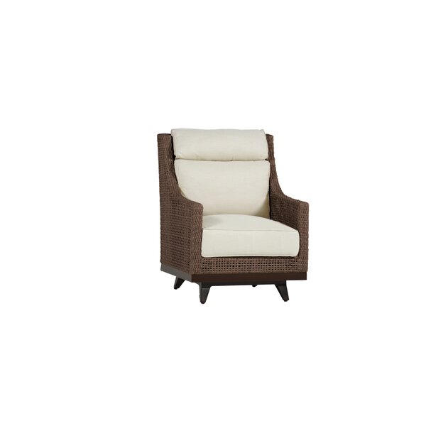 Peninsula Speaker Spring Patio Chair with Cushions by Summer Classics