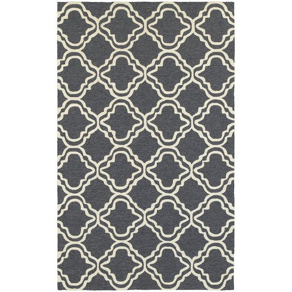 Atrium Trellis Panel Grey/Ivory Indoor/Outdoor Area Rug by Tommy Bahama Home