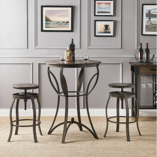 Carino 3 Piece Pub Table Set by Williston Forge