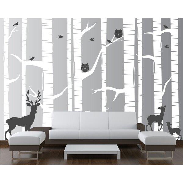22 Piece Birch Tree Wall Decal Set by Innovative Stencils