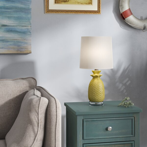 Salina Ceramic Pineapple 18 Table Lamp by Bay Isle Home