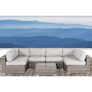 Vardin 7 Piece Sectional Set with Cushions By Rosecliff Heights