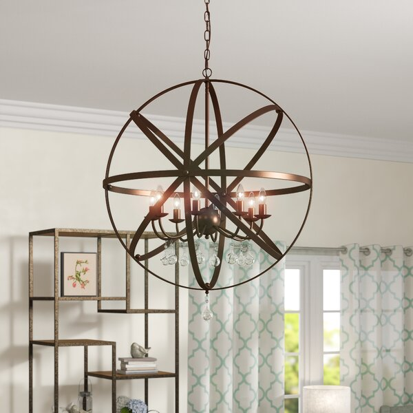 Mitton 8 - Light Candle Style Globe Chandelier by Gracie Oaks Gracie Oaks