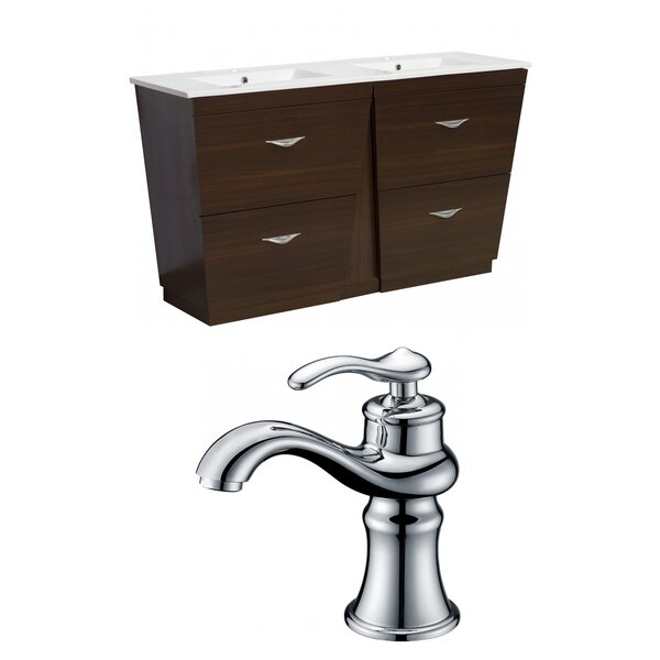 Vee 48 Double Bathroom Vanity Set by American Imaginations