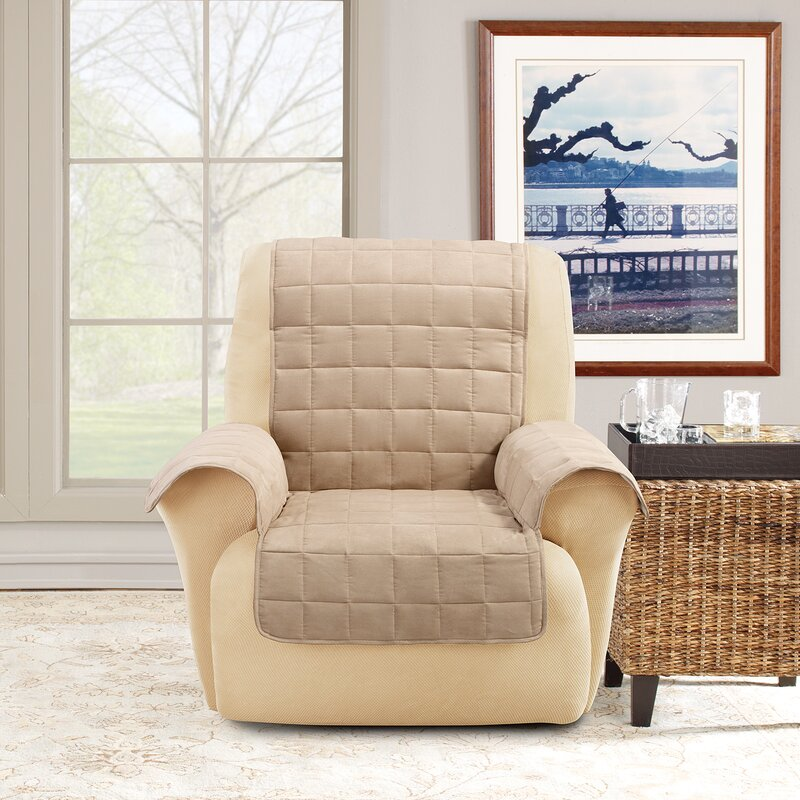 taupe pinstripe fit at home options striped recliner garden slipcovers compare products sure shopping stretch nextag prices slipcover