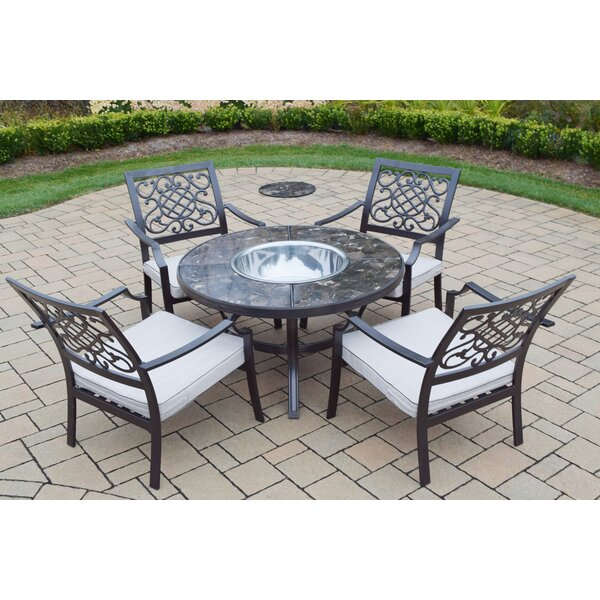 5 Piece Conversation Set with Cushions by Oakland Living