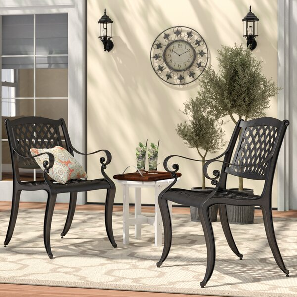 Grimm Patio Dining Chair (Set Of 2) By Darby Home Co by Darby Home Co Bargain