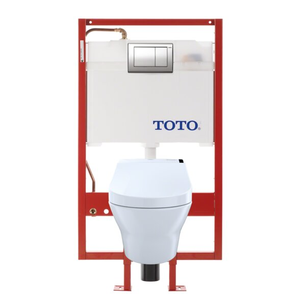 MH Connect Dual Flush D-Shape Wall Hung Toilet with Tornado Flush by Toto