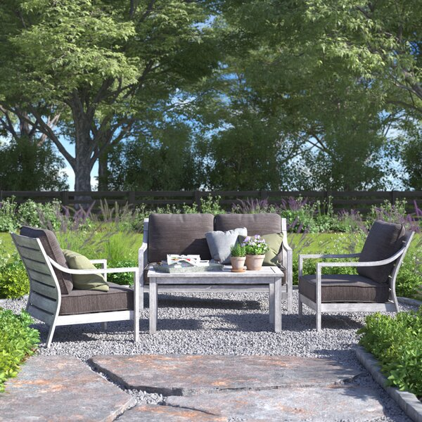 Corduff 4 Piece Sofa Seating Group Set with Cushions