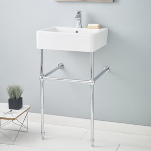 Great Price Nuovella Ceramic 20 Console Bathroom Sink with Overflow ByCheviot Products