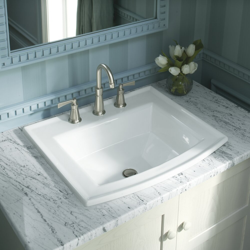 K-2356-8-K-2356-1-0,K-2356-1-33,K-2356-1-47 Kohler Archer Vitreous on bathroom sink with water, bathroom sinks kohler toilet colors, bathroom vanity wall mirror, bathroom fixtures by kohler, bathroom drop in sink closeout,
