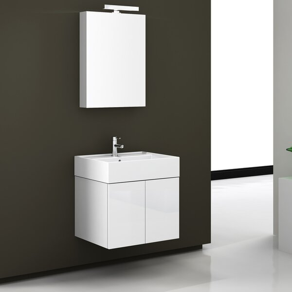 Smile 23.2 Single Bathroom Vanity Set with Mirror by Iotti by Nameeks