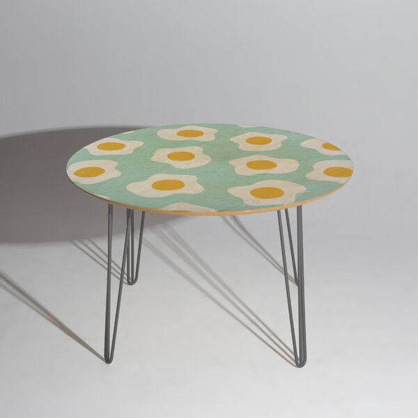 Hello Sayang Eggcellent Blue Egg Dining Table by East Urban Home East Urban Home
