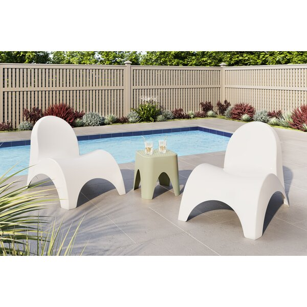 Tyriq Angel Trumpet 3 Piece Seating Group by Wrought Studio