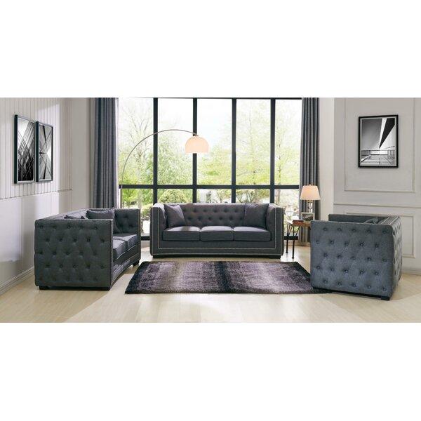 Antionette 3 Piece Living Room Set by Red Barrel Studio Red Barrel Studio