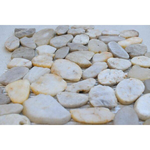 Random Sized Natural Stone Pebble Tile in Spring