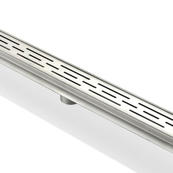 Linear 2 Linear Shower Drain by Kube Bath